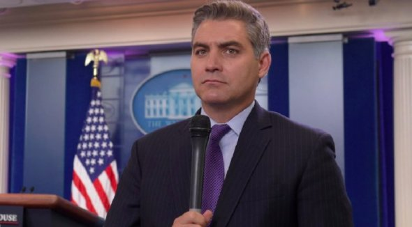 During the briefing, Acosta insinuated that the White House wants to allow only immigrants from Great Britain and Australia into the U.S. because they can speak English.