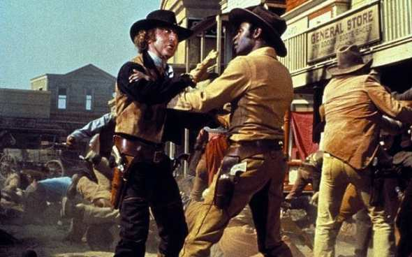 Gene Wilder and Cleavon Little in Blazing Saddles Credit: Alamy