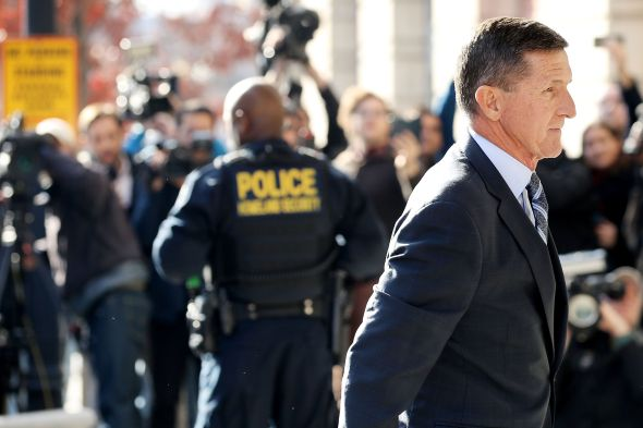 Michael Flynn, former national security advisor to President Donald Trump, arrives for his plea hearing at the Prettyman Federal Courthouse on December 1, 2017. Chip Somodevilla/Getty Images