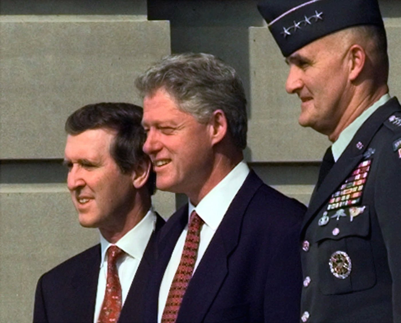 Bill Clinton William Cohen Hugh Shelton