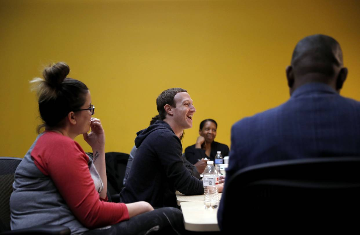 Facebook CEO Mark Zuckerberg met with entrepreneurs and innovators at a round-table discussion in St. Louis on Nov. 9.
