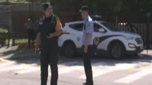 An explosion was reported on Thursday outside the U.S. Embassy in Beijing's Chaoyang District. (Reuters)